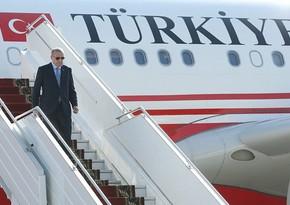 Erdogan's plane lands at Fuzuli International Airport