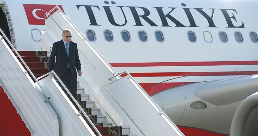 Ərdoğan Azərbaycana yola düşüb