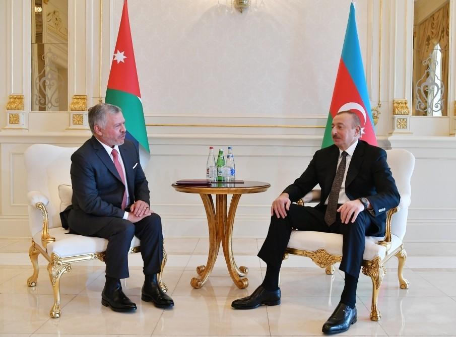 Король Иордании поздравил президента Азербайджана