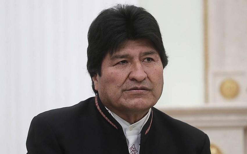 Boliviya prezidentinin helikopteri təcili eniş edib - VİDEO