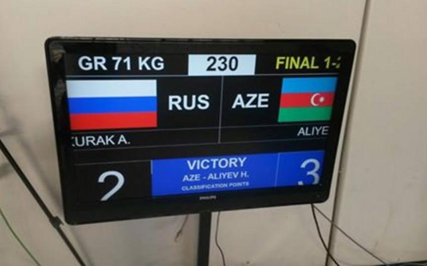 Azərbaycan güləşçisi hərbçilərin dünya çempionatında qızıl medal qazanıb