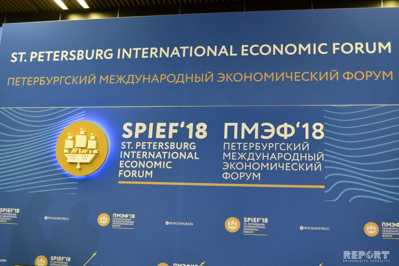 Azərbaycan nümayəndə heyəti Sankt-Peterburq Beynəlxalq İqtisadi Forumunda iştirak edir