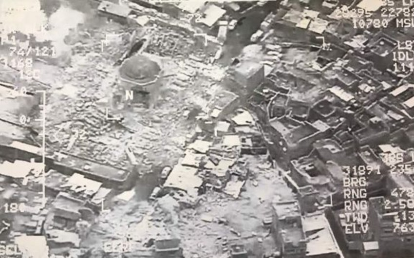 İraqın baş naziri Mosul məscidinin partladılmasını İŞİD-in məğlubiyyəti adlandırıb