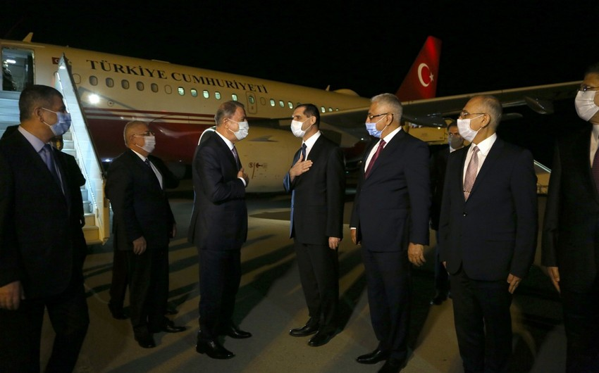 Turkey's large military delegation arrives in Azerbaijan