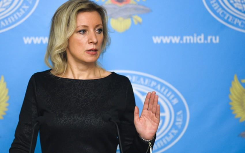 Mariya Zaxarova: Rusiya Türkiyə və Ermənistan arasında əlaqələrin normallaşmasını dəstəkləyir