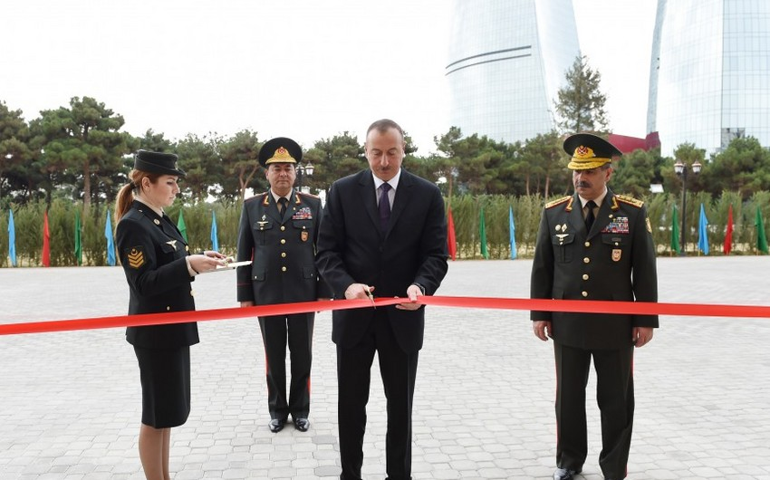 President Ilham Aliyev attended the opening of a new administrative building of General Staff of Armed Forces