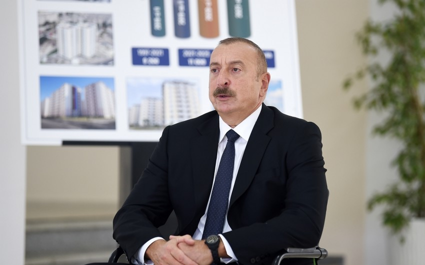Azərbaycan Prezidenti: Bizdə olan dəqiq məlumata görə, Ermənistan ən azı 7-8 min itki verib