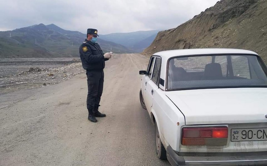 Polis ucqar dağ kəndlərində karantin rejiminə riayət olunmasını təmin edir