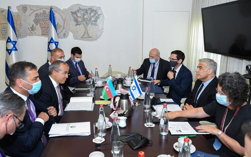 Министр экономики Азербайджана встретился с главой МИД Израиля