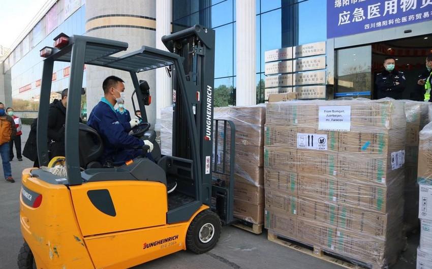 Azərbaycanın göndərdiyi yardım Çinin koronavirus yayılan şəhərinə çatdı