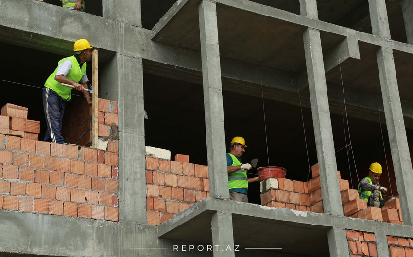 Bakıda aparılan inşaat işlərinin 86,4%-ini özəl müəssisələr yerinə yetirib