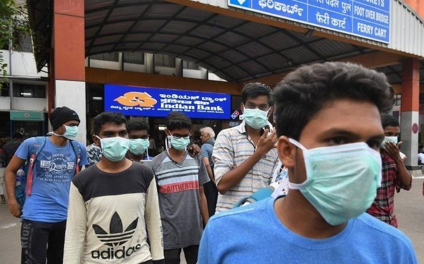 Hindistanda koronavirusa yoluxanların sayı 17 mini ötdü