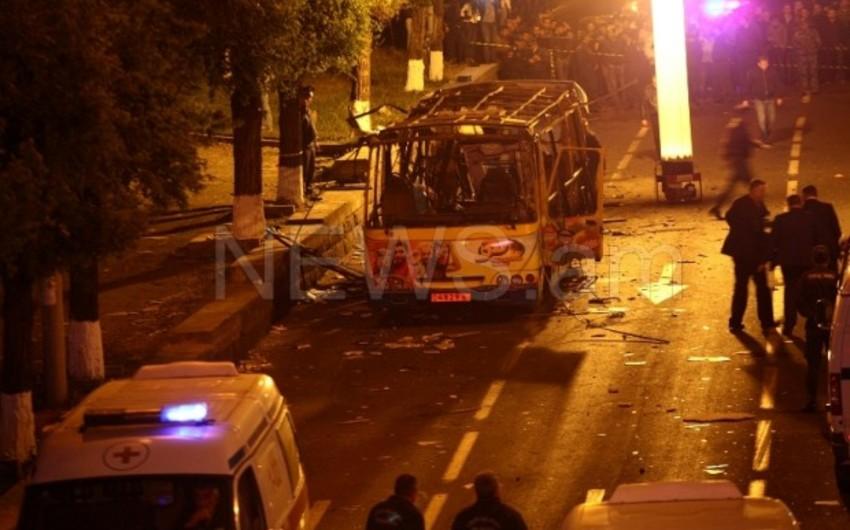 Ermənistanda avtobusun partlaması nəticəsində 2 nəfər ölüb, 8 nəfər yaralanıb - VİDEO - YENİLƏNİB