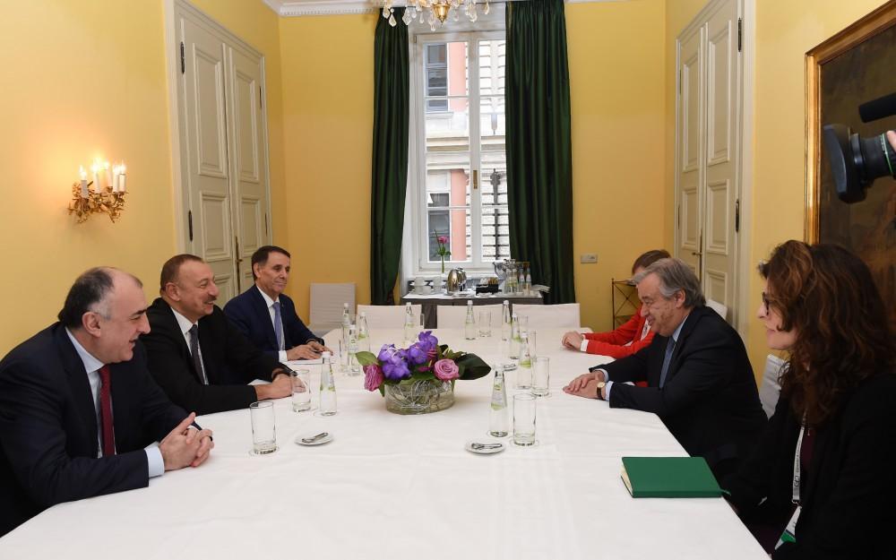 Президент Ильхам Алиев встретился в Мюнхене с генсеком ООН