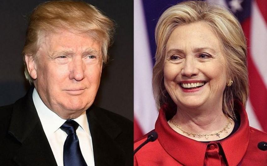 Sorğu: Donald Tramp siyasi rəqibi Hillari Klintonu 2% qabaqlayır