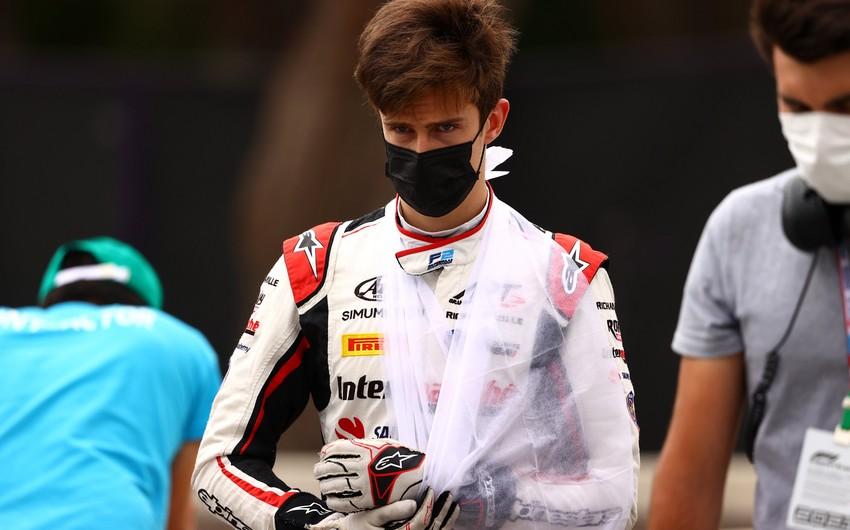 Formula 2 pilotunun Bakıda qolu sındı