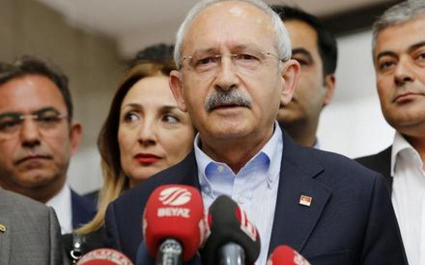 Kamal Kılıcdaroğlu: AKP-CHP koalisiya hökumətinin qurulması ehtimalı çox azdır