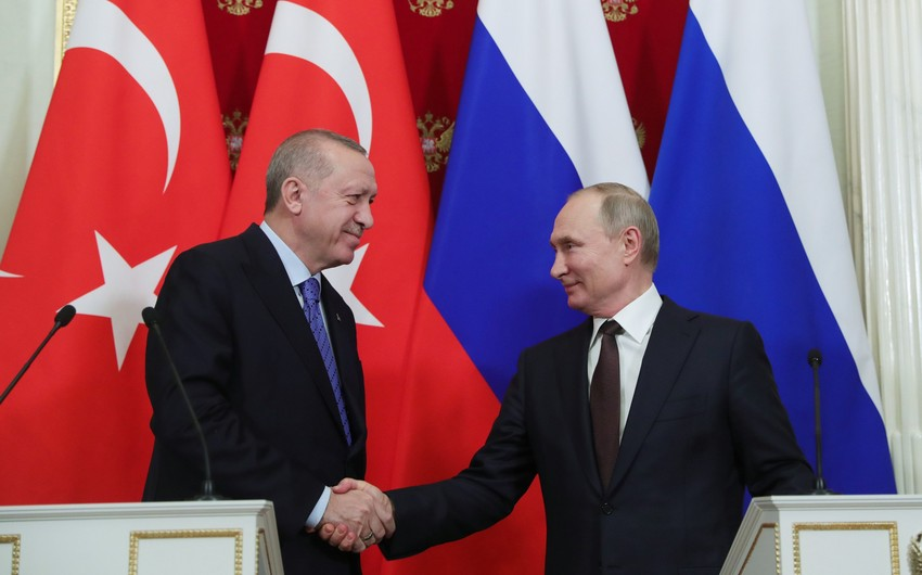 Putin informs Erdoğanabout results of Moscow meeting