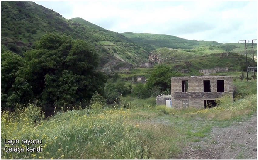 Footage from Galacha village of Lachin