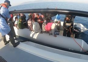 Egey dənizində Türkiyə 166 miqrantı xilas edib