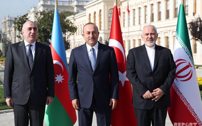 İstanbulda Türkiyə, Azərbaycan və İran xarici işlər nazirlərinin üçtərəfli görüşü keçirilib - VİDEO