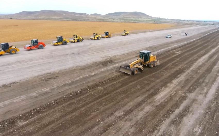 Продолжается строительство автодороги Горадиз-Джебраил-Зангилан-Агбенд