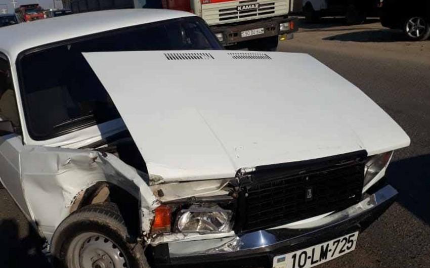 Abşeronda üç avtomobil toqquşdu - VİDEO - FOTO
