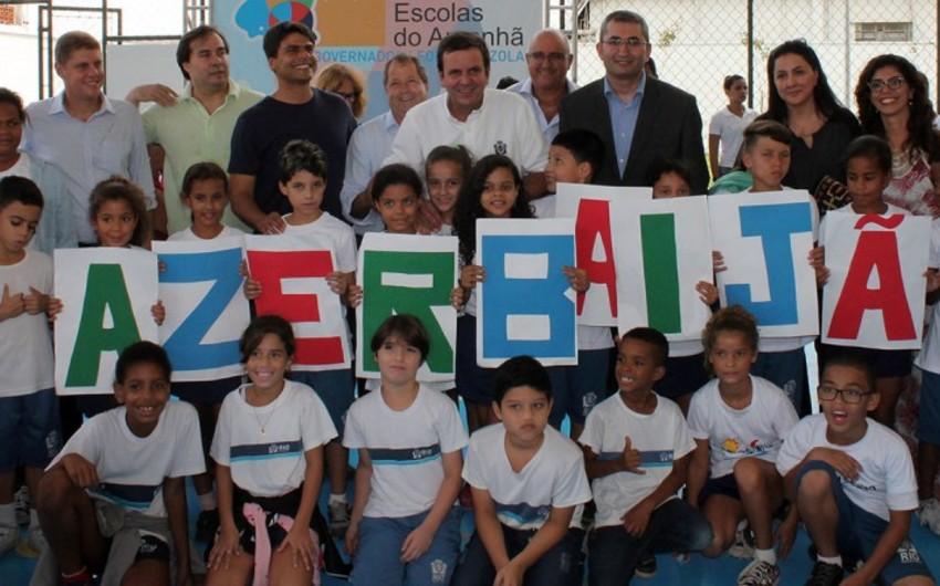 Braziliyada Azərbaycanın adını daşıyan bələdiyyə məktəbinin açılış mərasimi olub