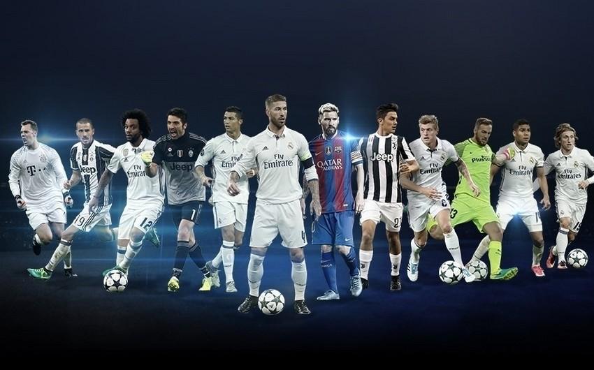 UEFA Çempionlar Liqasında mövqelər üzrə ən yaxşı seçilməyə namizəd futbolçuların adlarını açıqlayıb - SİYAHI