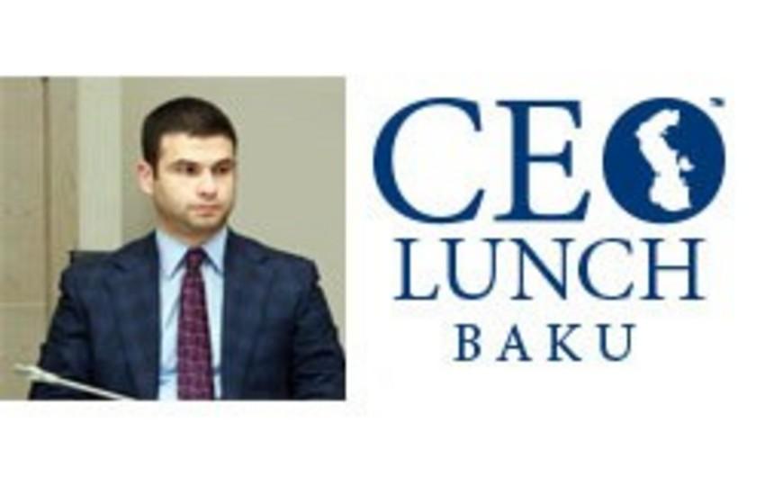 Kiçik və Orta Sahibkarlığın İnkişafı Agentliyinin icraçı direktoru CEO Lunch Baku-nun fəxri qonağı olacaq
