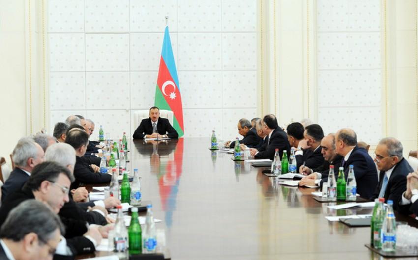 Azərbaycan prezidenti İlham Əliyevin sədrliyi ilə Nazirlər Kabinetinin iclası keçirilib