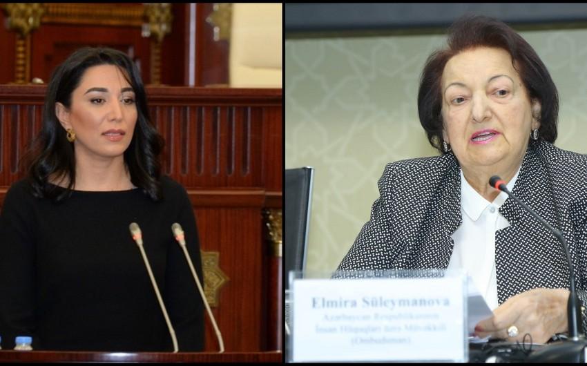 Elmira Süleymanova yeni Ombudsmanın seçilməsinə münasibət bildirib