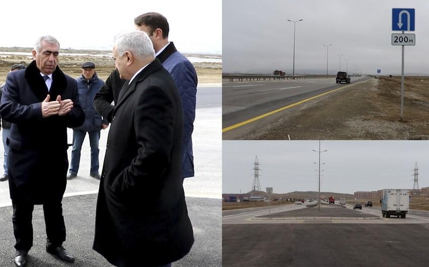 Bakı-Qazax avtomobil yolunda yeni yol hissəsi salınıb