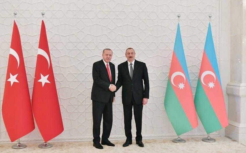 President Ilham Aliyev met with President of Turkey Recep Tayyip Erdogan
