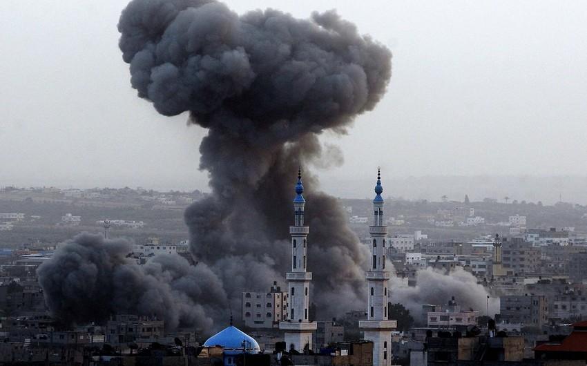 İsrailin Qəzza zolağına endirdiyi hava zərbələri nəticəsində 10 nəfər xəsarət alıb