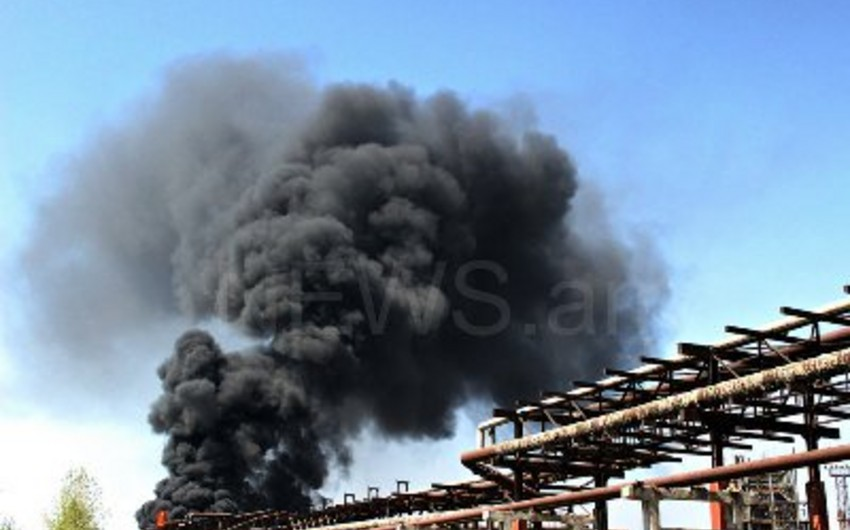 Yerevanda kimya zavodunda yanğın ikinci gündür davam edir