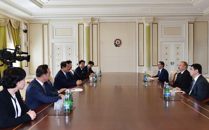 Президент Ильхам Алиев принял делегацию Национальной Ассамблеи Республики Корея