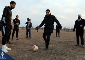 Хикмет Гаджиев в Агдаме сыграл в футбол с клубом Карабах