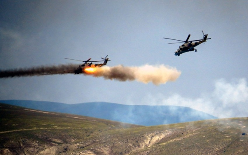 Battlefield shooting  stage of Azerbaijan-Turkey joint tactical exercises takes  place