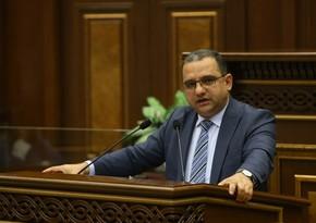 Ermənistanın iqtisadiyyat naziri istefa verdi