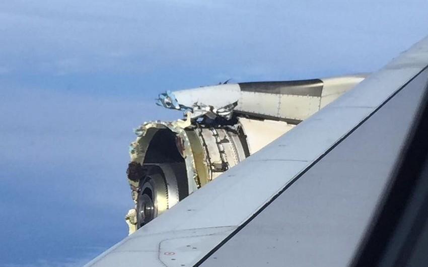 Air Francenin təyyarəsi mühərrikinin qırılması səbəbindən təcili eniş edib