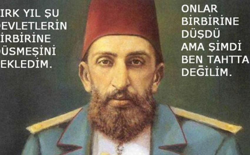II Sultan Əbdül Həmid Xanın ermənilərə bədduasının mətni yayılıb
