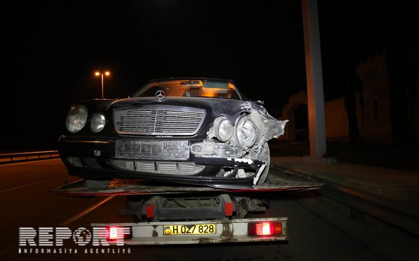 Bakıda Mercedes və KİA toqquşub - YENİLƏNİB - FOTO - VİDEO