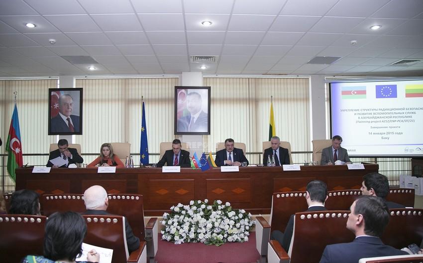 Azərbaycanda radiasiya təhlükəsizliyi infrastrukturunun gücləndirilməsi üzrə layihəyə yekun vurulub