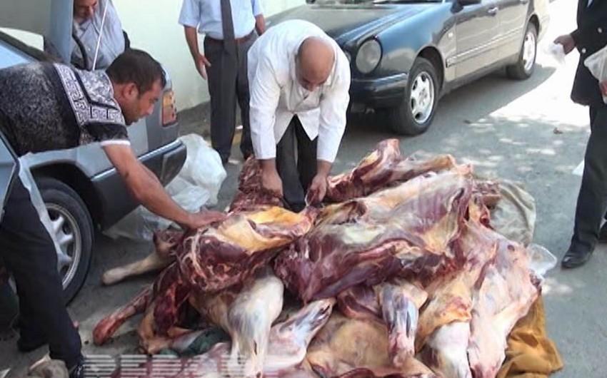Masallıda 400 kq-a yaxın xəstə heyvan ətinin satışının qarşısı alınıb - FOTO