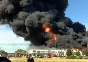 В США горит химический завод Chemtool