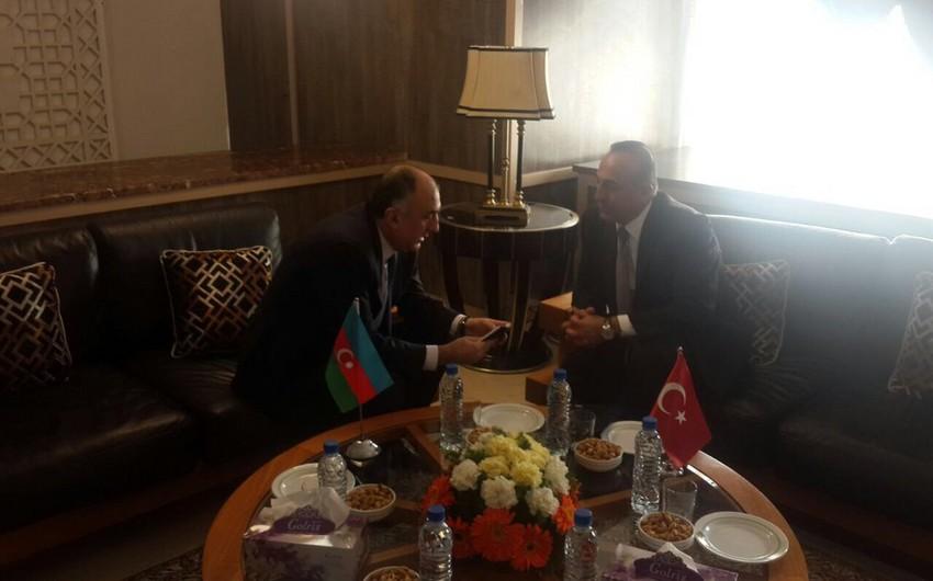 Состоялась встреча глав МИД Азербайджана и Турции