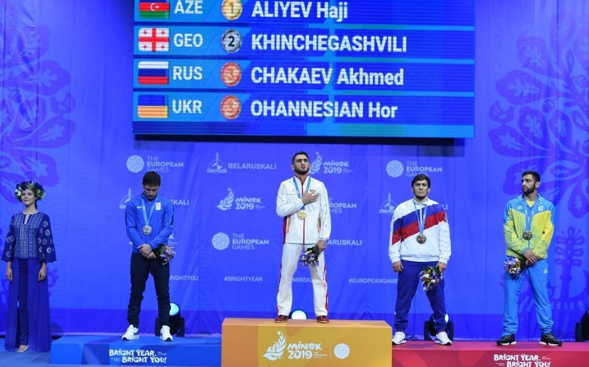 Wrestler Aliyev bags Azerbaijan's second gold at Minsk 2019