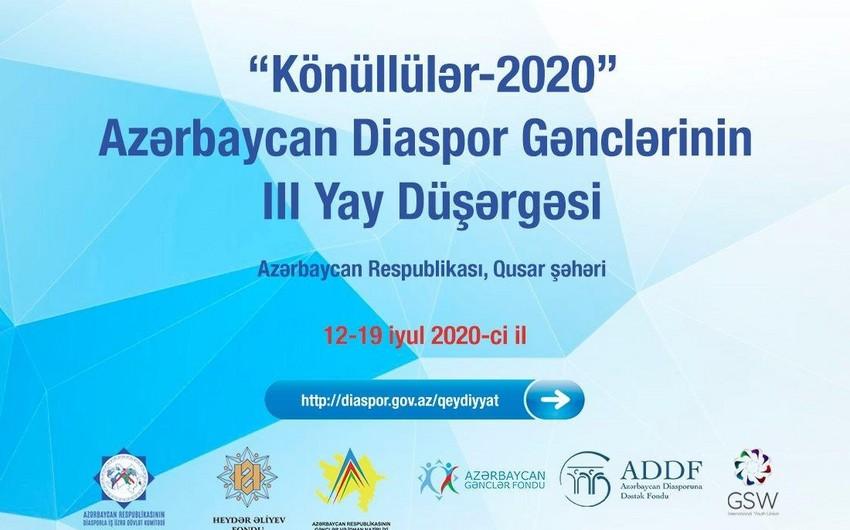 Diaspor Gənclərinin III Yay Düşərgəsi təxirə salındı