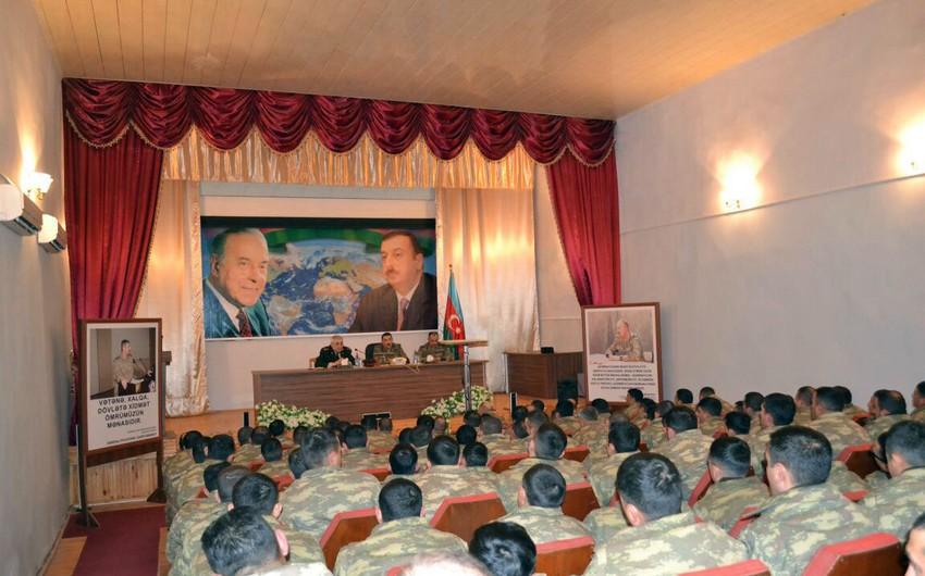 Müdafiə Nazirliyi ilə Respublika Hərbi Prokurorluğu arasında imzalanan birgə tədbirlər planı icra olunur